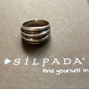 Silpada Ribbed .925 Sterling Silver Ring Size 8